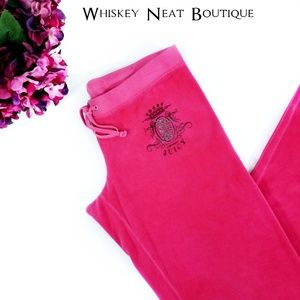 Juicy Couture Velour Pink Tracksuit Pants